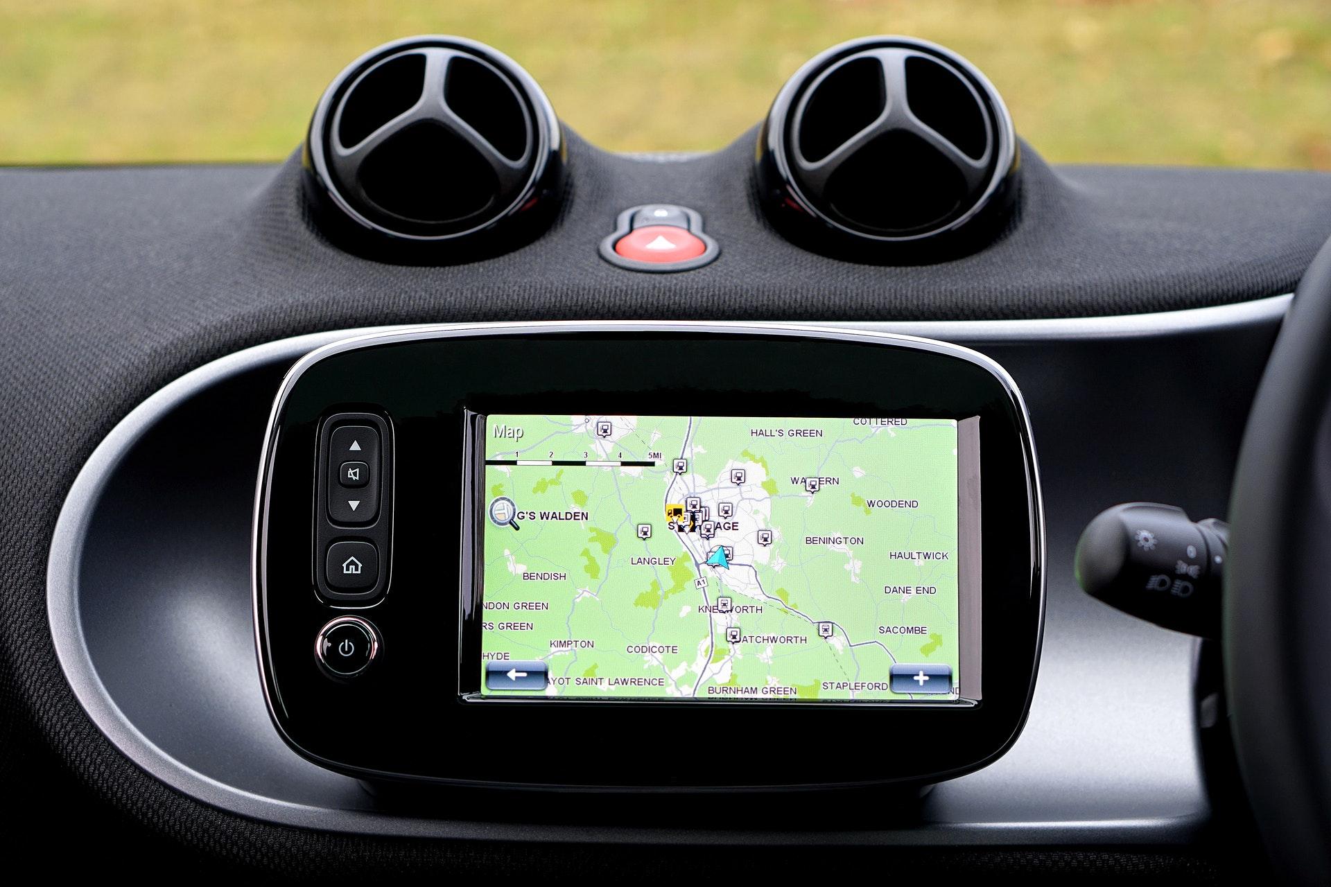 zdjęcie GPS w samochodzie z viaTOLL