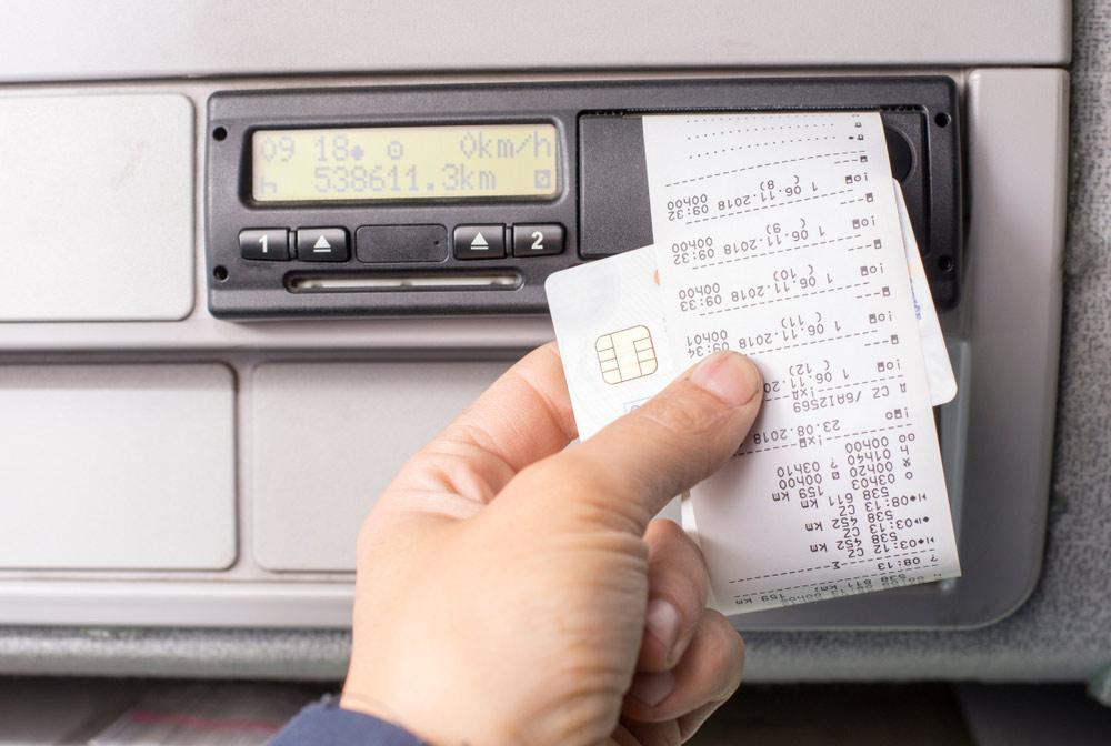 Tachograf cyfrowy – wydruk z tachografu